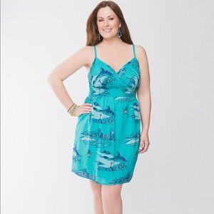 Lane Bryant Rio Print Sun Dress Size 24